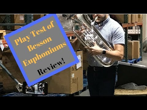Play test and Review of Besson Euphoniums (BE162, BE967, BE2052)