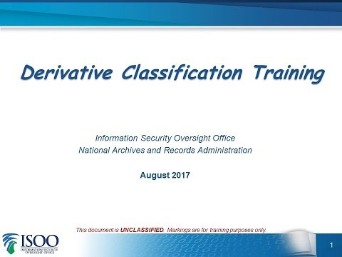 Derivative Classification Training - Revised - YouTube
