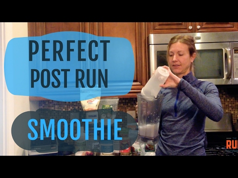 Video Nutrition For Running: Perfect Post Run Smoothie