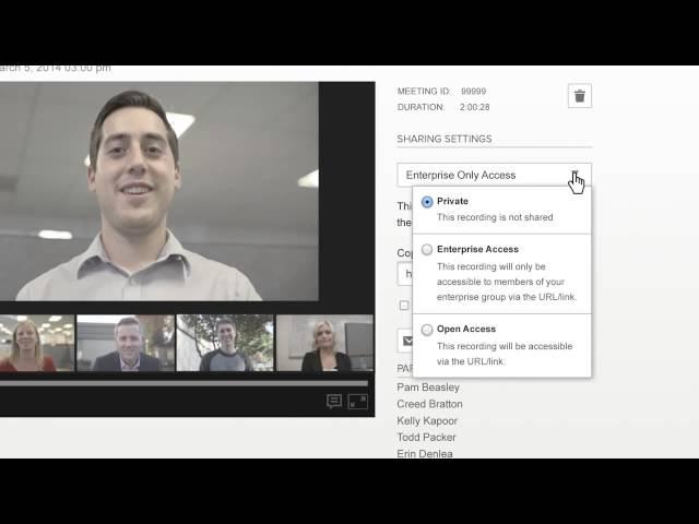 会議の録画とストリーミング