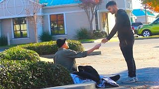 Homeless Man Does Wonderful Act Social Experiment