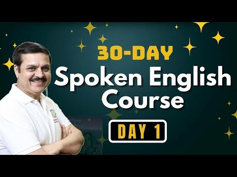 Free Online Spoken English Course In 30 Days- Day 1|English ...