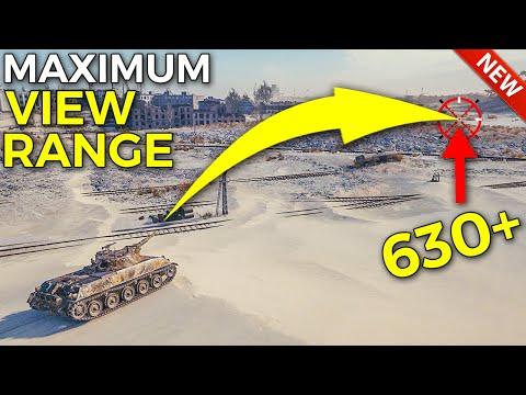 Maximum View Range is CRAZY! | World of Tanks Rheinmetall Panzerwagen Update 1.10