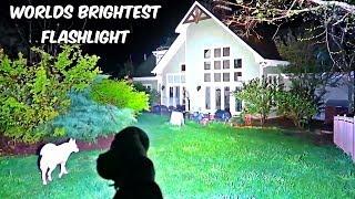 Worlds Brightest Flashlight 32000 Lumens