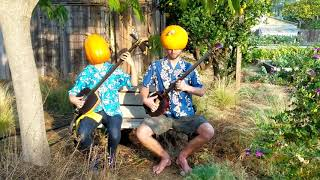 Homemade Shamisen with Pumpkin Helmet