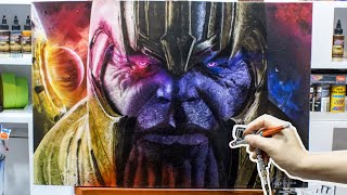 HyperRealistic Airbrush Painting Thanos (Avengers End Game) +100 Hours Time Lapse