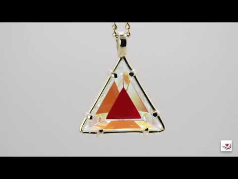 Vogel Crystal Star of David Clear Quartz & Cognac Dichroic Glass Pendant