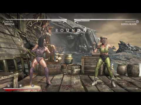 Mortal Kombat X Mileena vs Sonya