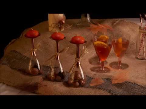 Deko-Idee: DIY herbstliche Kerzenständer
