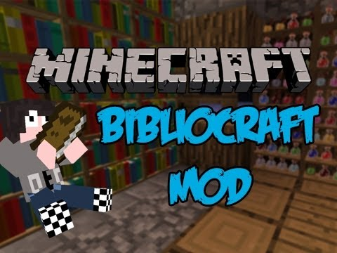 Minecraft Mod Review: BiblioCraft - ARMOUR STANDS, BOOKSHELVES, WRITING DESKS!