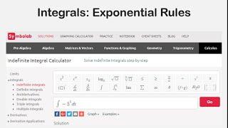 Integrals: Exponential Rules