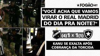 Kanu se exalta com torcedor revoltado após eliminação do Botafogo para ABC na Copa do Brasil