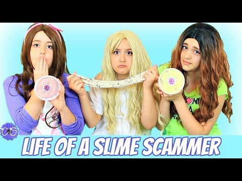 Day In The Life of a Slime Scammer - Fake!  Funny Skit!