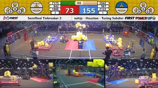 Semifinal Tiebreaker 2 - 2018 FIRST Championship - Houston - Turing Subdivision