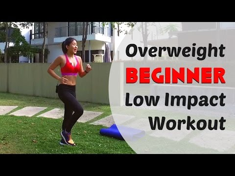 Overweight Beginner Low Impact Home Workout (Burn 300Cals under 20mins)   Joanna Soh