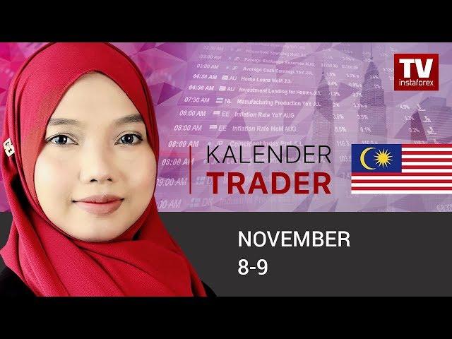 Kalender Trader November 8 - 9: Dolar dijangka terus mara