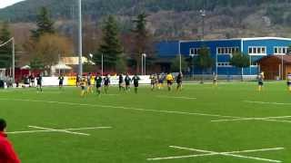 preview picture of video 'L'Aquila NeroVerde vs. ASD Capistrello Rugby I tempo'