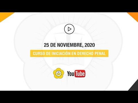 CURSO DE INICIACIÓN EN DERECHO PENAL -  25 de Agosto 2020