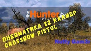 theHunter classic - тест оружия : пневматика .22 калибр и Crossbow Pistol
