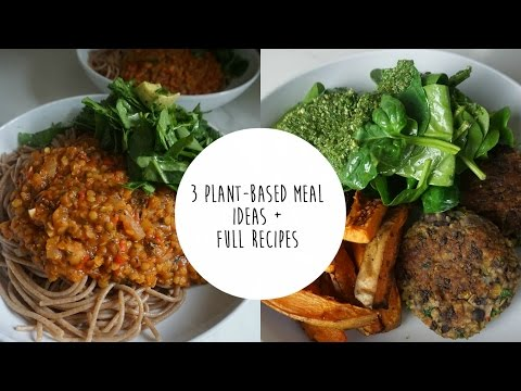 Video MEAL IDEAS + FULL RECIPES | PLANT-BASED