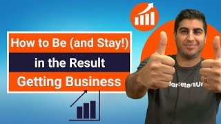 How to Be (and Stay!) in the Result Getting Business