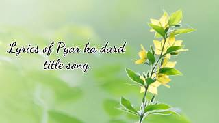Pyar ka dard hai - YouTube