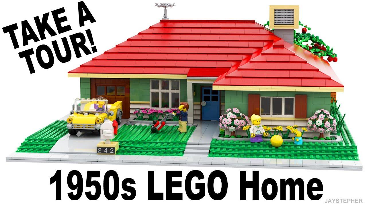 1950s LEGO Home Custom Build MOC Tour