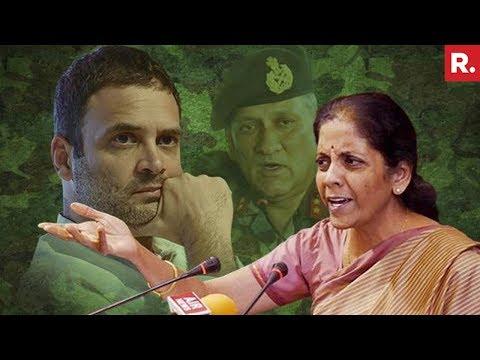 निर्मला सीतारमण स्लैम राहुल गांधी के लिए & # 39; सड़क का गुंडा & # 39; टिप्पणी