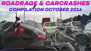 ROAD RAGE & CAR CRASHES BAD DRIVERS COMPILATION OCTOBER 2016 (part 2)