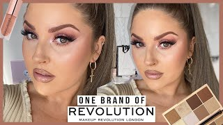 Full Face Of MAKEUP REVOLUTION 😱 *one Brand Tutorial* Affordable & Amazing Tbh