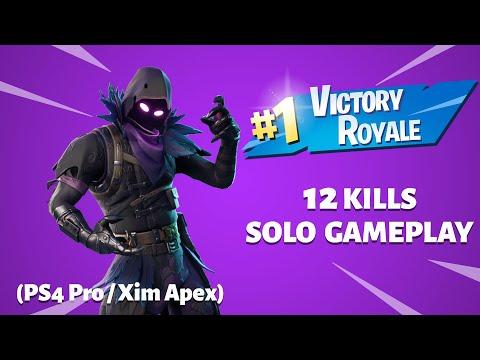 Fortnite Battle Royale 10 Kill Solo Victory (XIM APEX