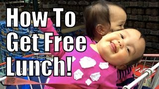 How To Get FREE LUNCH! - April 28, 2015 -  ItsJudysLife Vlogs