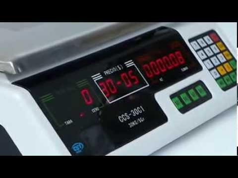Calibracion de bascula CCS 30C1