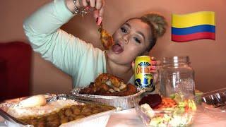 COLOMBIAN FOOD MUKBANG! POLLOS MARIO