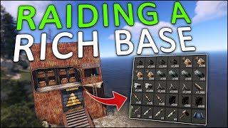 SULFUR PROFIT RAIDING a RICH OCEAN BASE! - Rust Solo #7
