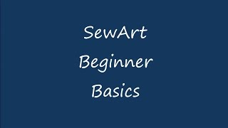 SewArt Embroidery Digitizer – S & S Computing
