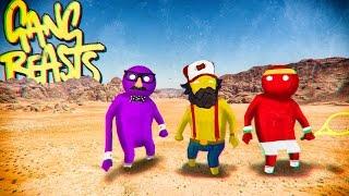Gang Beasts - Самый Смешной Файтинг (кооператив) #1