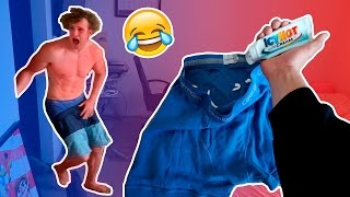 I PUT ICY HOT IN MY BROTHERS BOXERS (PRANK WARS)
