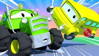Odtahové auto pro děti - Autobus Lily měl u Benovy farmy nehodu