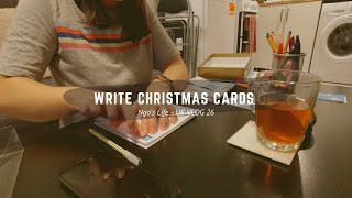 [ENG] [VIET] UK VLOG 26// Write Christmas cards for family&friends - Give my feet love after a run.