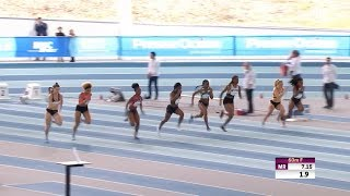 Meeting Elite de Nantes 2019 : Carolle Zahi en 7''24 sur 60 m