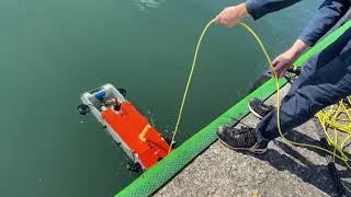 小型AUV と支援ブイからなる海底画像マッピングシステム(東京大学生産技術研究所)