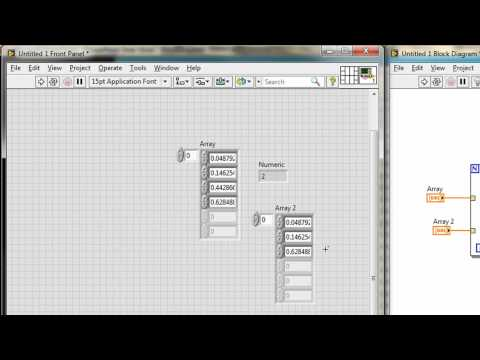 VI High 32 - CLAD Exam Prep: Indexing an Array into a LabVIEW ...