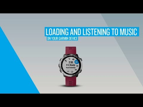 Loading and Listening to Music on Your Garmin Device