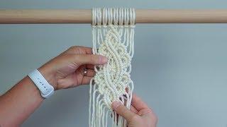 DIY Macrame Tutorial - Intermediate Pattern Using Double Half Hitch Knots!