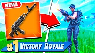 FORTNITE *NEW* HEAVY ASSAULT RIFLE GAMEPLAY! (NEW WEAPON)