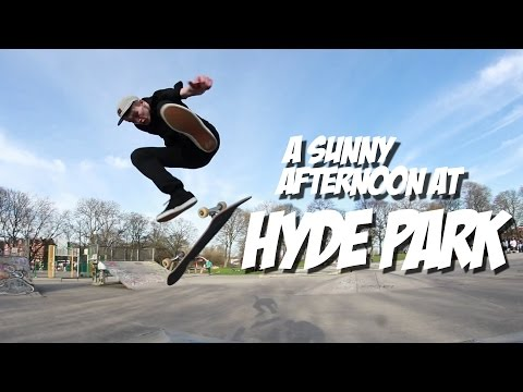 A sunny afternoon at Hyde Park skatepark.