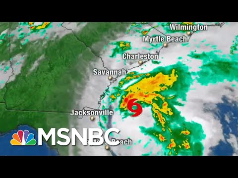 Tropical Storm Isaias Heads North As It Churns Off Florida's Coast | Andrea Mitchell | MSNBC