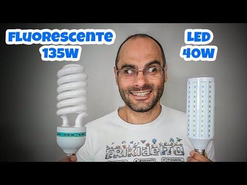 FLUORESCENTE VS LED   LUZ para SOFTBOX