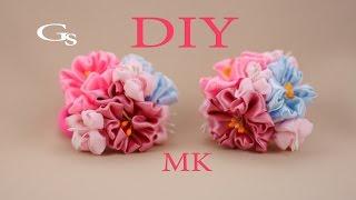 Канзаши МК. Резиночки. Рукоделие / Kanzashi MK. Clip. Needlework